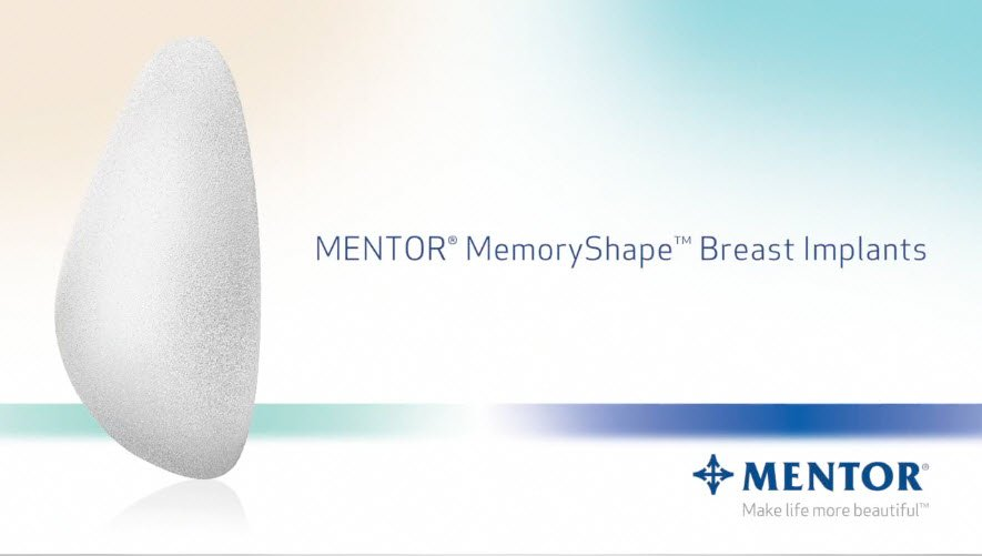 Mentor Memory Shape Breast Implant